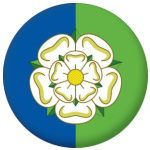 Yorkshire East Riding County Flag 25mm Fridge Magnet